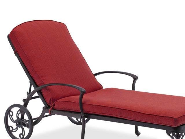 Outdoor Patio 77 X 24 In Canvas Henna Double Piping Chaise Lounge Cushion With Zipper Sunbrella