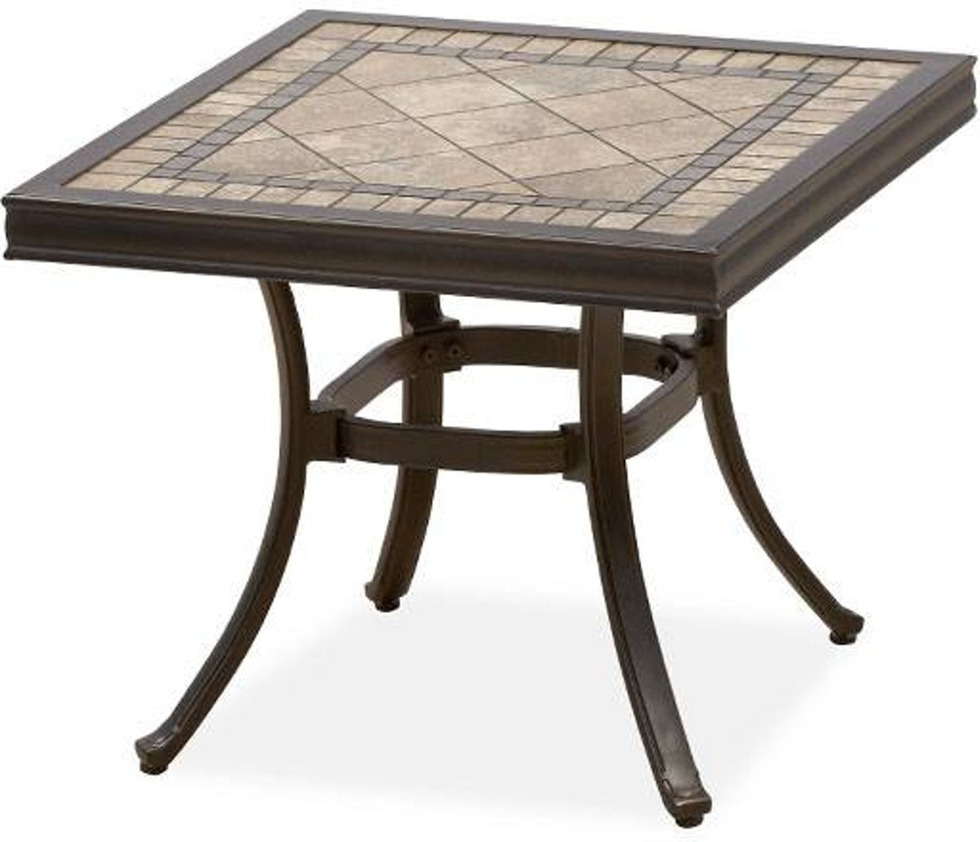 Square Stone Top End Table 2563718