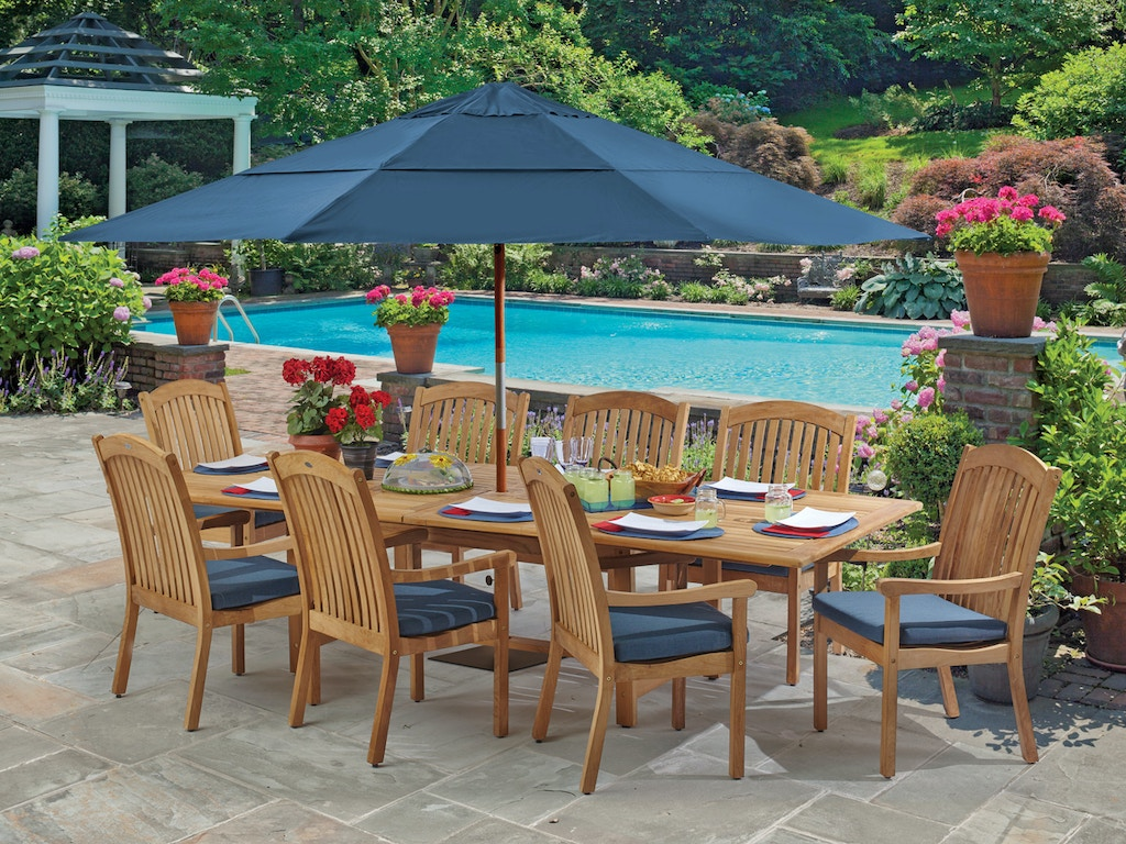 a904e039e21d Eastchester 9 Pc. Solid Teak Dining Setwith 87-118 x 47 Rectangular  Extension Table