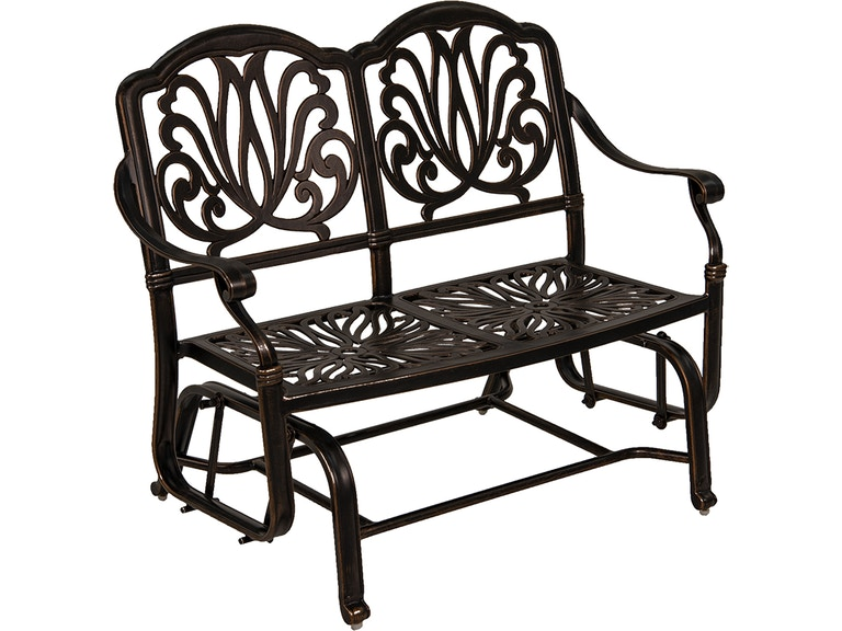 Phenomenal Cadiz Aged Bronze Aluminum Loveseat Bench Glider Bralicious Painted Fabric Chair Ideas Braliciousco