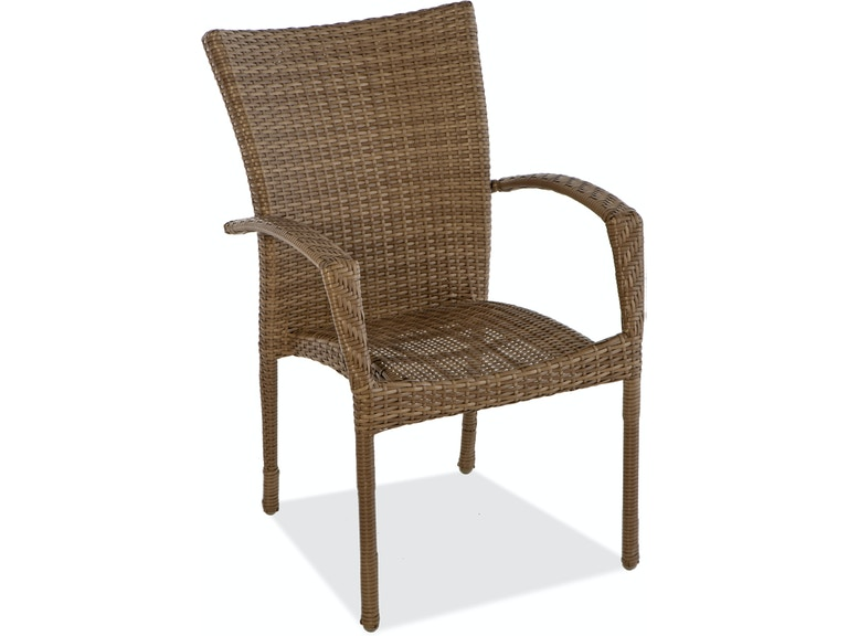 Amazing Sierra Driftwood Aluminum And Resin Wicker Stacking Dining Chair Download Free Architecture Designs Intelgarnamadebymaigaardcom