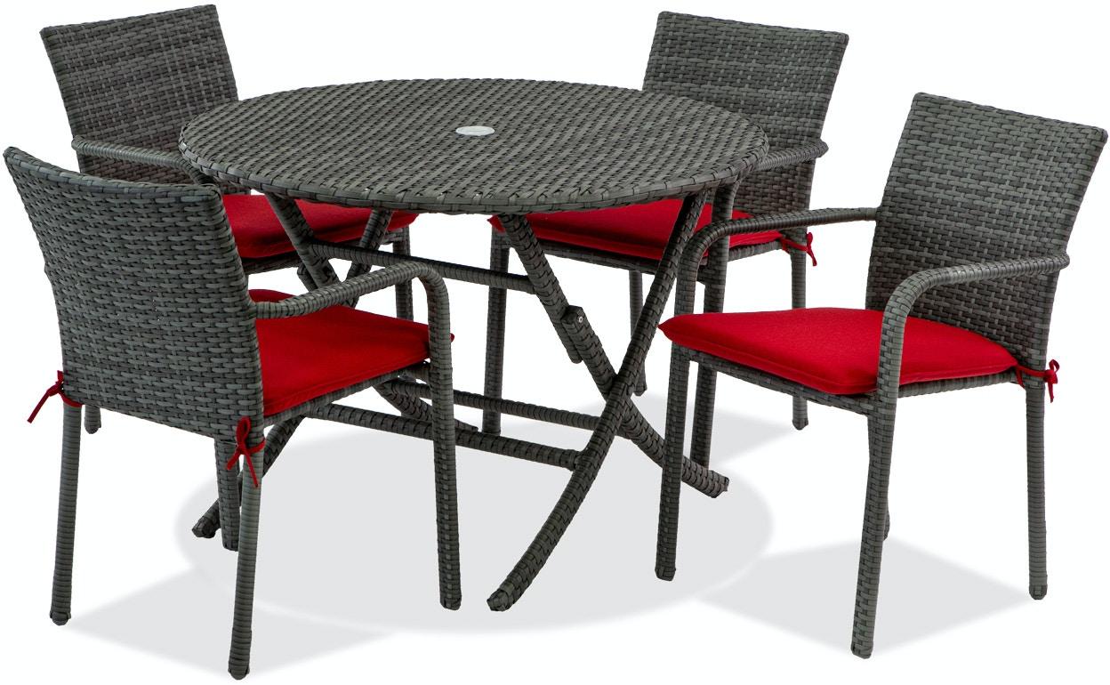 Grey Wicker Outdoor Dining Sets
