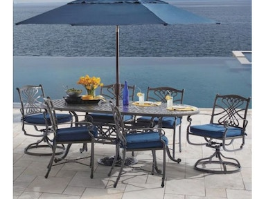 Outdoor Patio Melrose 7 Pc Dining Set 4086391 Fortunoff