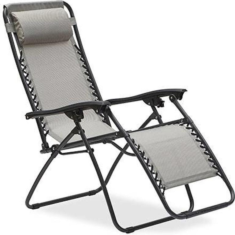 Superb South Beach Titanium Aluminum Zero Gravity Recliner Machost Co Dining Chair Design Ideas Machostcouk