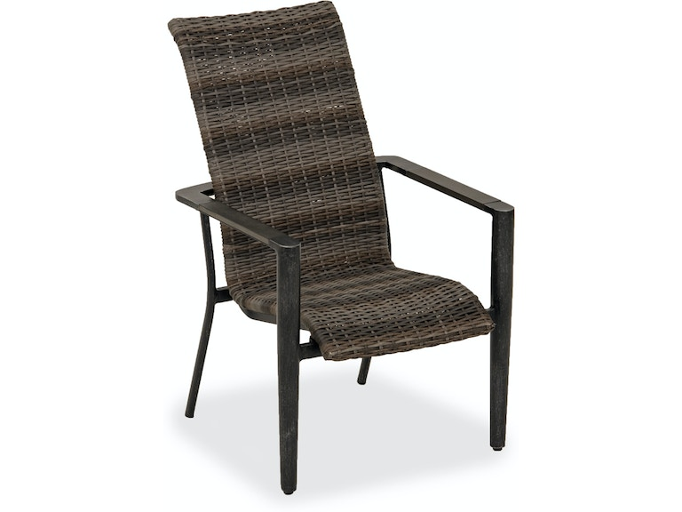 Silver Patio Furniture.Messina Brushed Silver Aluminum And Outdoor Wicker Dining Chair