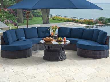 Outdoor Patio San Lucas 5 Pc Aluminum Resin Wicker Seating