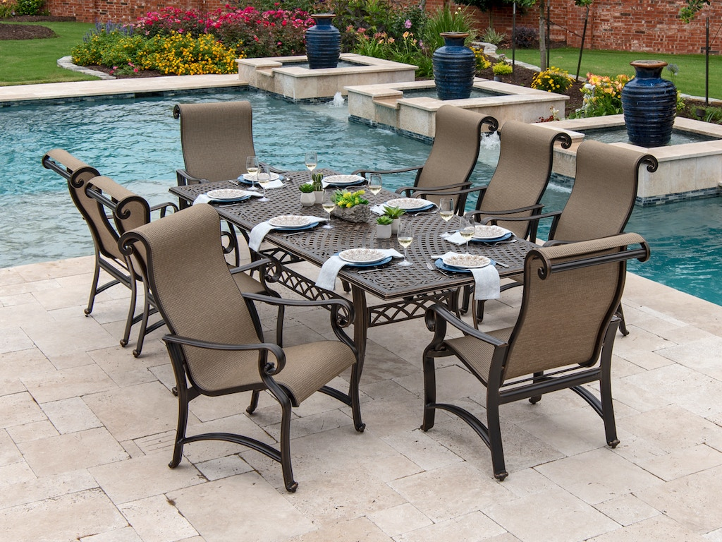 Outdoor Patio Carlsbad Sling 9 Pc