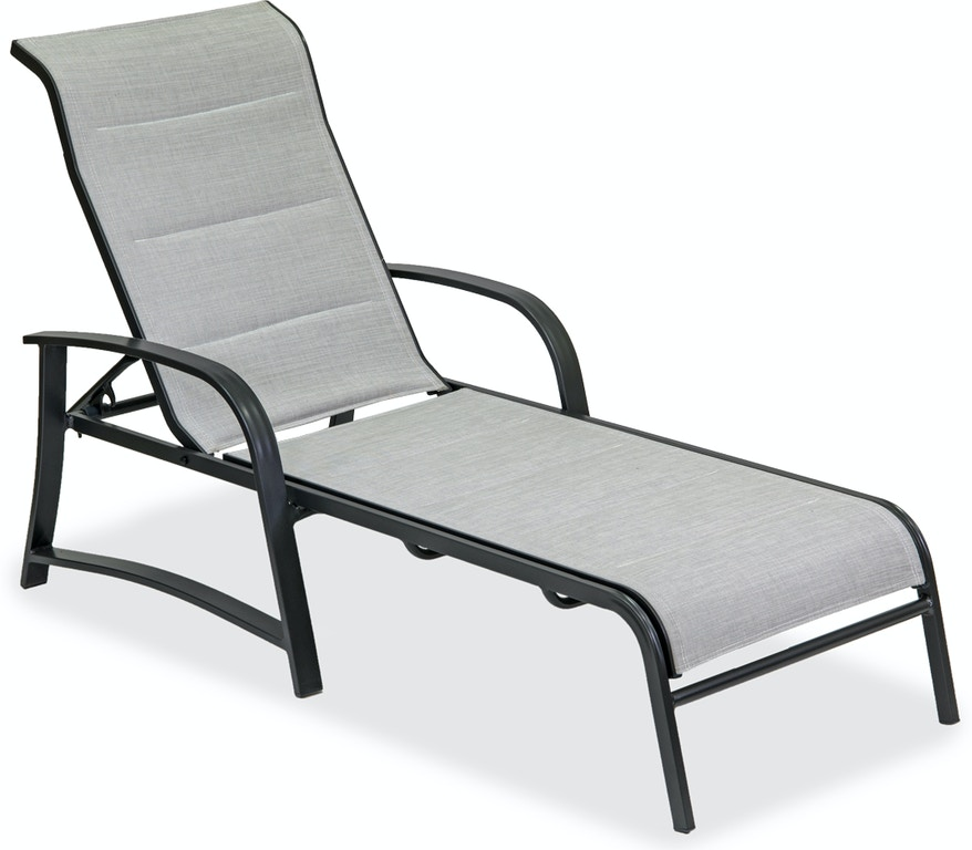 Superb Ibiza Glimmer Grey Aluminum Padded Sling Chaise Lounge Camellatalisay Diy Chair Ideas Camellatalisaycom