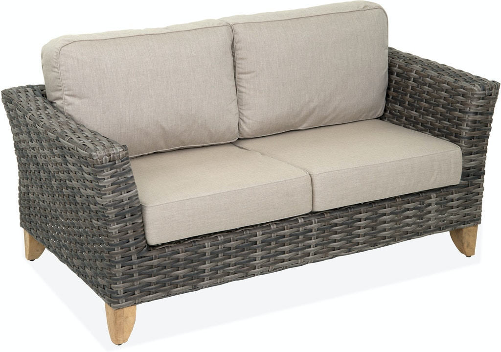 Wondrous Mandalay Husk Aluminum And Resin Wicker Loveseat Cjindustries Chair Design For Home Cjindustriesco