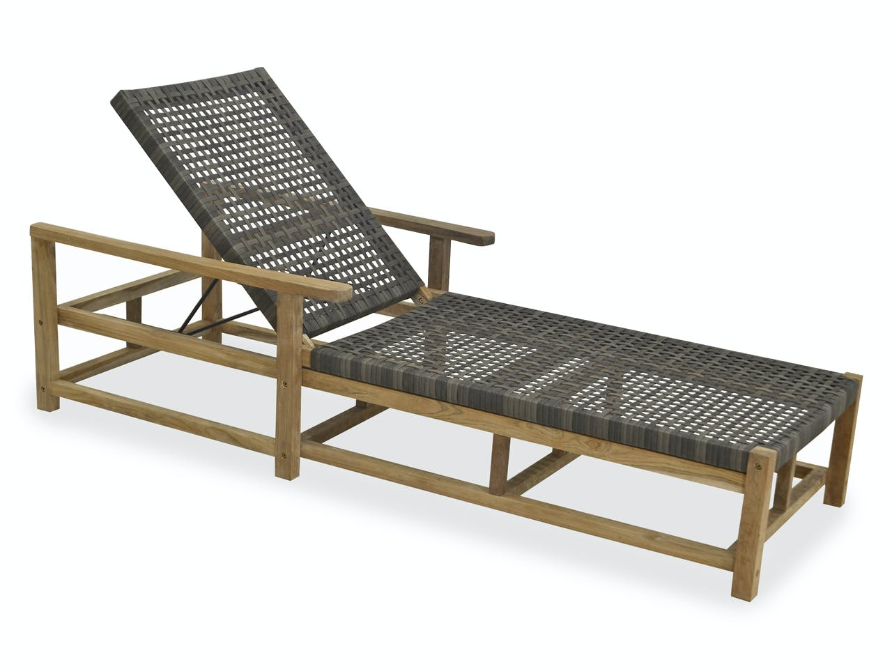 Picture of: Outdoor Patio Hampton Driftwood Outdoor Wicker And Solid Teak Chaise Lounge 6963442 Fortunoff