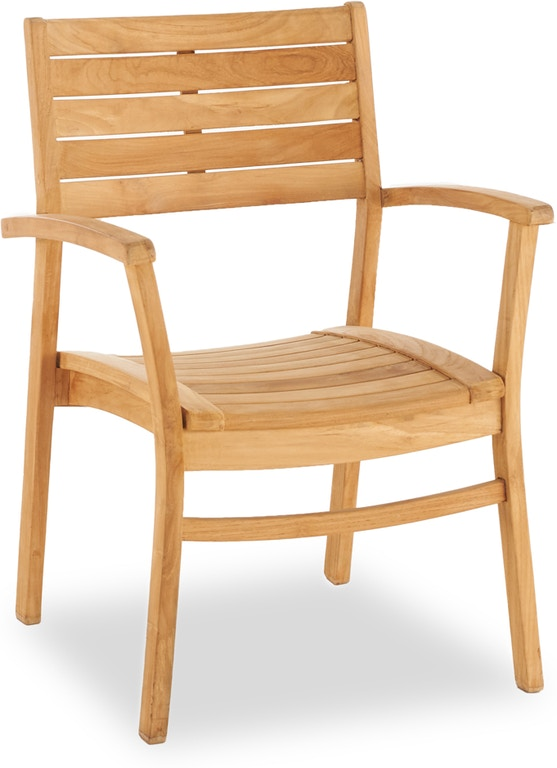 Outdoor Patio Warwick Natural Stain Solid Teak Stacking Dining Chair 7936339 Fortunoff Backyard