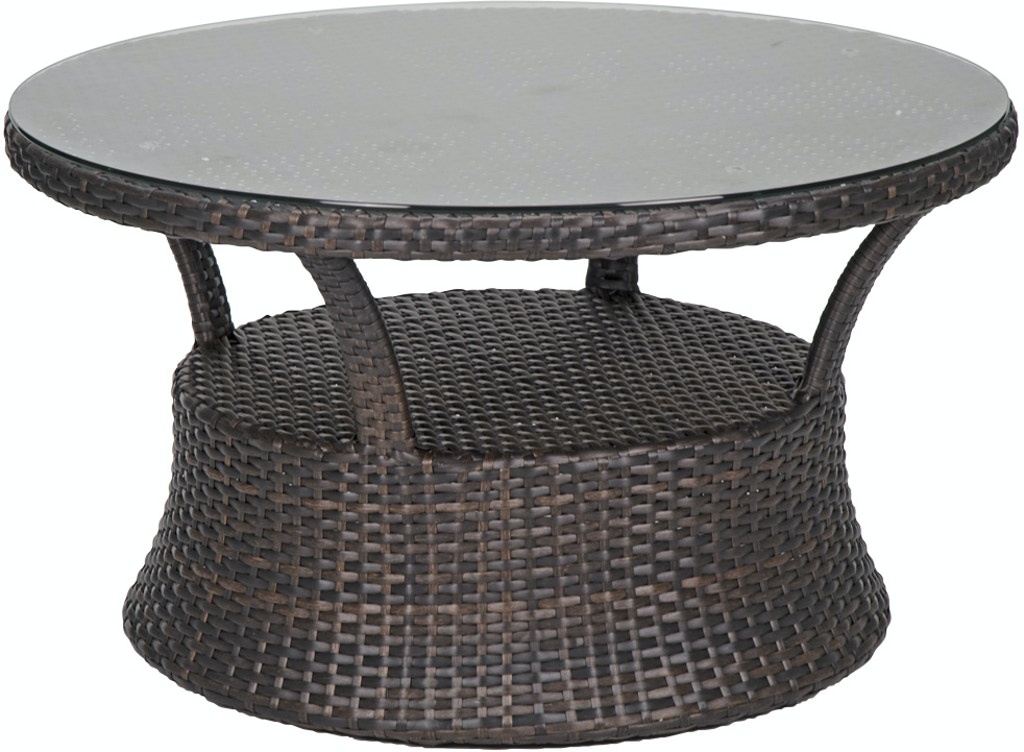 Round Aluminum Woven Resin Wicker