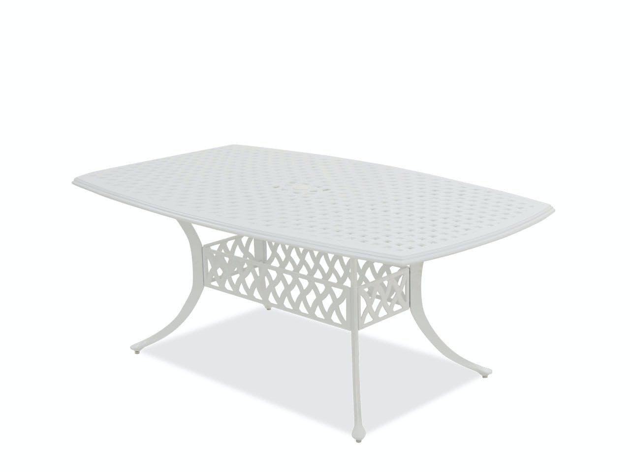 Outdoor Patio Yacht Club Matte White Cast Aluminum 72 X 42 In Dining Table 7495310 Fortunoff