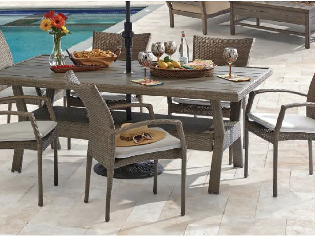 Amazing Sierra Sangria Aluminum And Resin Wicker 7 Pc Dining Set With 76 X 42 In Infintree Top Table Download Free Architecture Designs Intelgarnamadebymaigaardcom