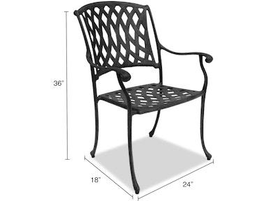 Outdoor Patio Tivoli Cast Aluminum Dining Chair 1656159