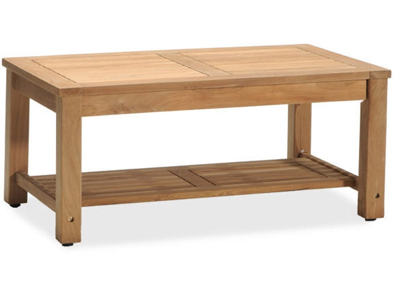 Eastchester Natural Stain Solid Teak 40 X 24 Coffee Table 1853595