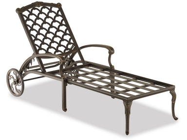 Outdoor Patio Bordeaux Cast Aluminum Chaise Lounge 3015703