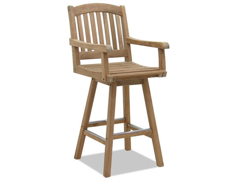 Amazing Eastchester Natural Stain Solid Teak Swivel Barstool Unemploymentrelief Wooden Chair Designs For Living Room Unemploymentrelieforg