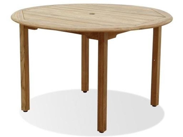Outdoor Patio Camden Natural Stain Solid Teak 48 In Dining Table