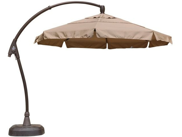 Treasure Garden Heather Beige 11 Arching Cantilever Umbrella 2091554