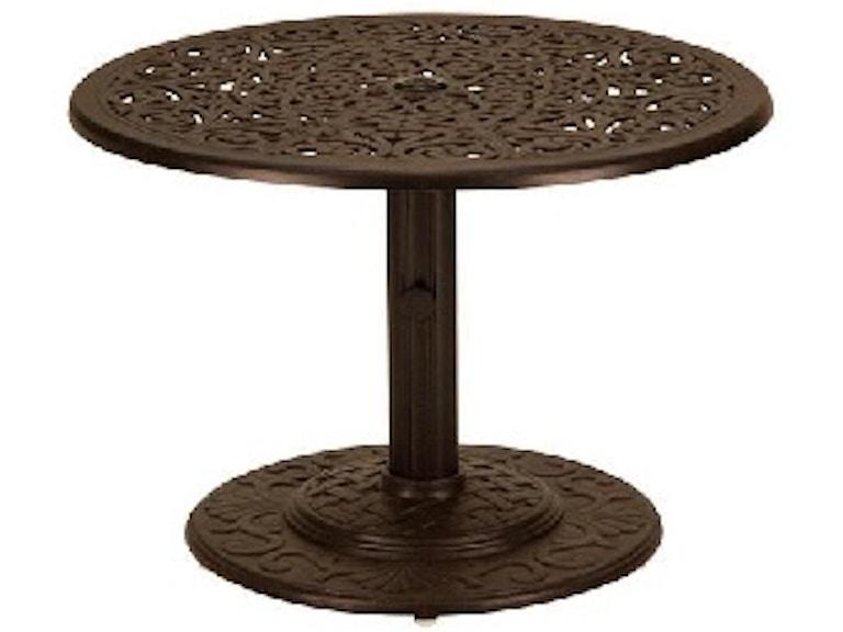 Milan Aged Bronze 30 Round Cast Aluminum Umbrella Side Table 2227403