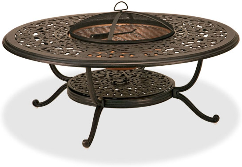Outdoor Patio Milan Aged Bronze Cast Aluminum 48 In Fire Pit Coffee Table 2276457 Chair King