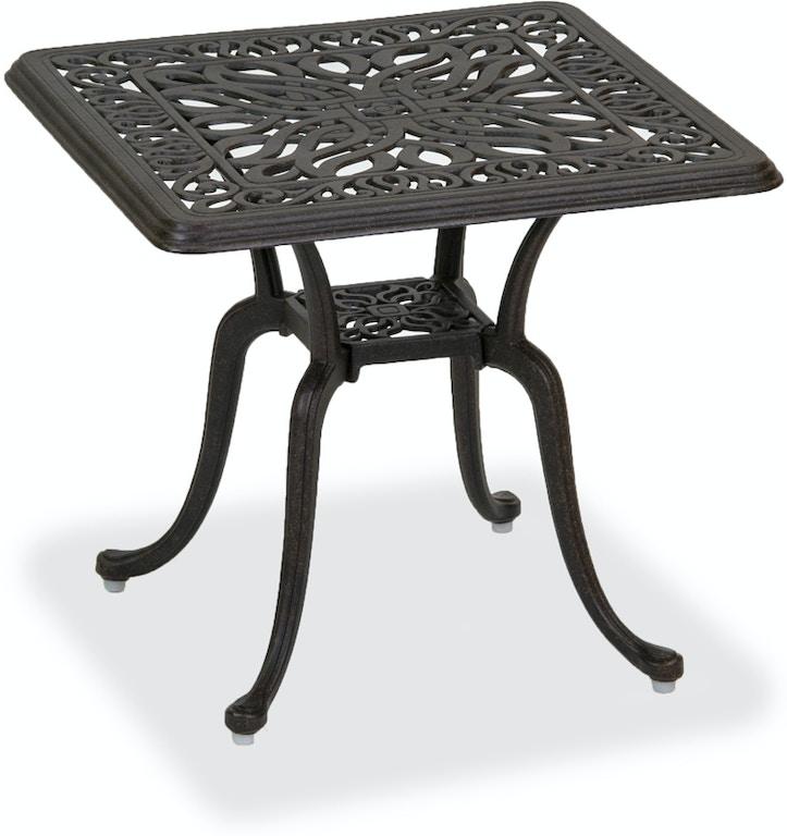 21 Square Cast Aluminum Side Table