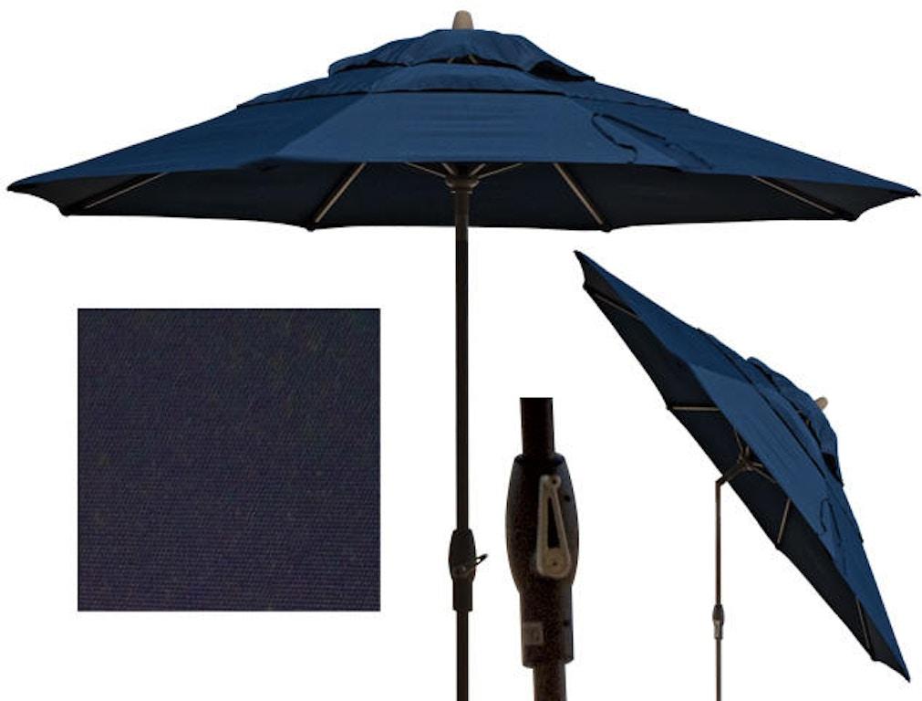 Outdoor Patio Treasure Garden 9 Ft Navy Aluminum Market Umbrella Um810 795221 Chair King