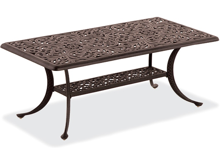 St James 45 X 24 Rectangular Cast Aluminum Coffee Table 801098