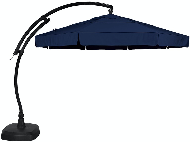 2616866e94fcf Outdoor/Patio Treasure Garden Navy 11 Ft. Arc Cantilever Umbrella ...