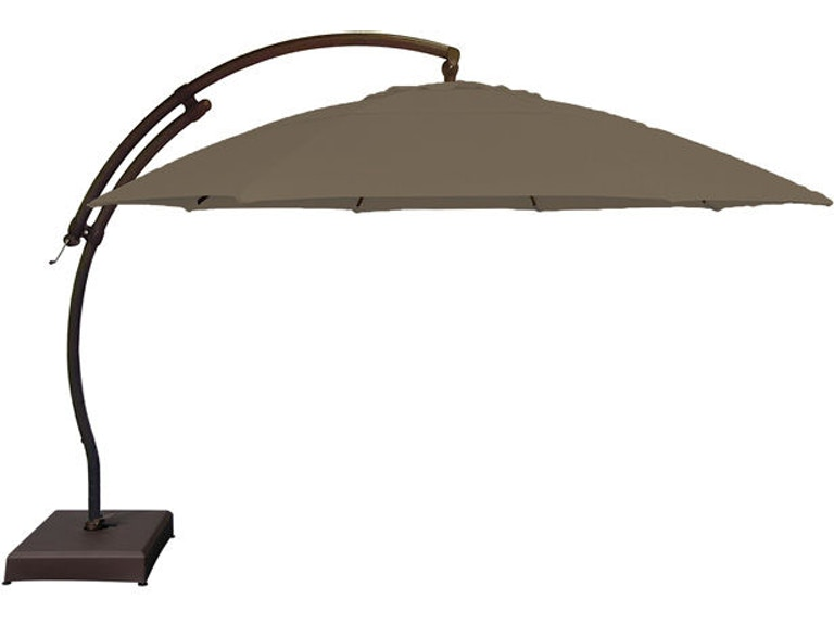 08943af2df00b Outdoor/Patio Treasure Garden Mocha 13' Arc Cantilever Umbrella ...