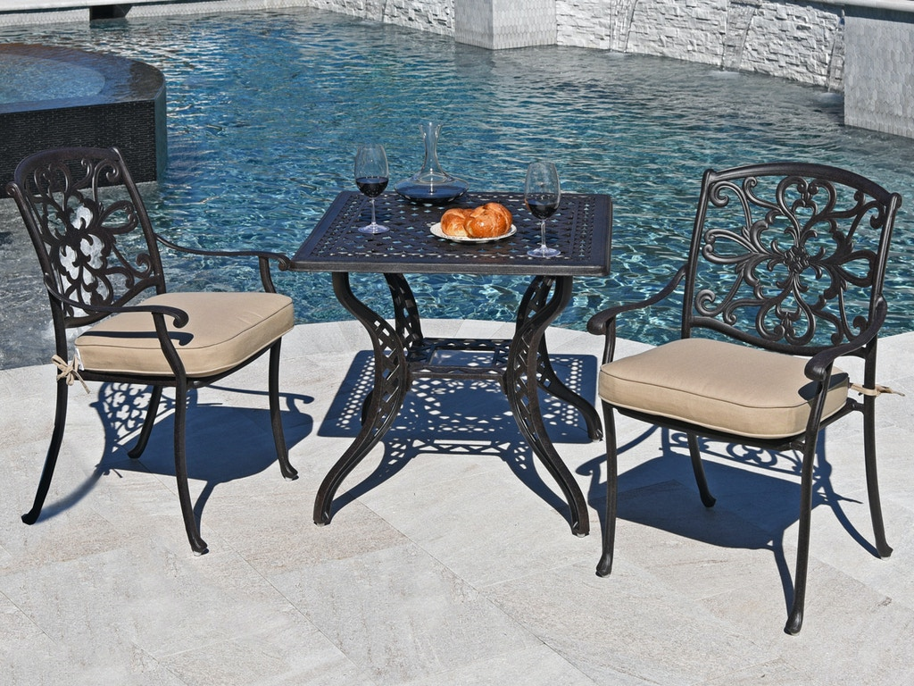 Aged Bronze Cast Aluminum 3 Pc Bistro