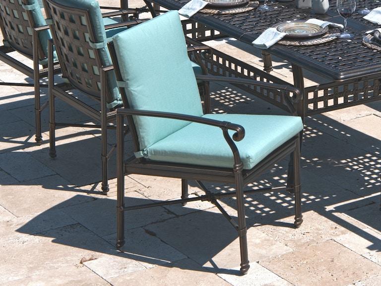 Outdoorpatio Spectrum Mist Sunbrella Carmel High Back Dining Chair