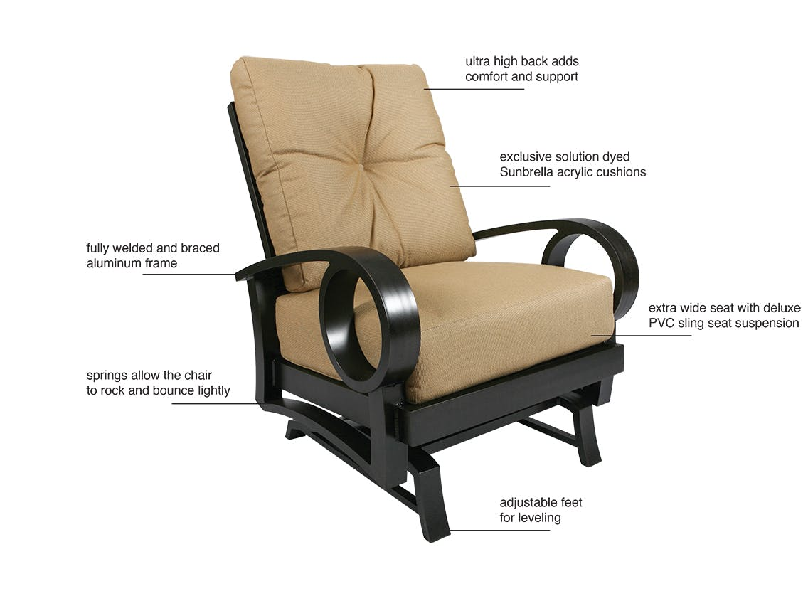 Picture of: Outdoor Patio Eclipse Cushion Aluminum Spring Club Chair 1449002 Chair King Houston Tx