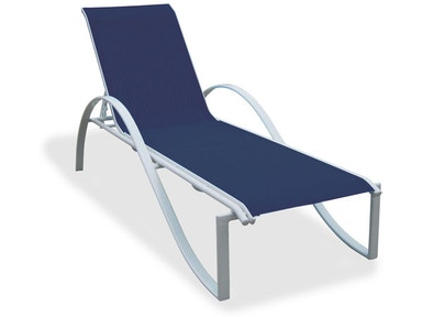 Chaise Lounge Outdoor.Outdoor Patio South Beach Sling Stackable Chaise Lounge 3348025