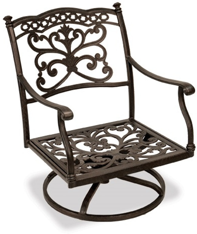 Outdoor Patio Milan Cast Aluminum Swivel Rocker Club Chair