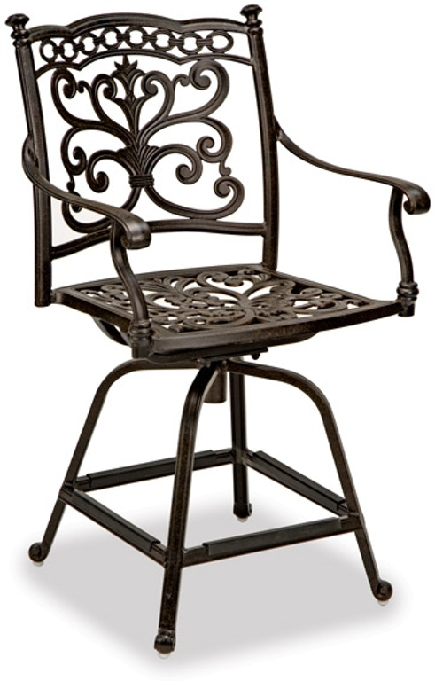Awesome Milan Cast Aluminum Counter Height Swivel Chair Pdpeps Interior Chair Design Pdpepsorg