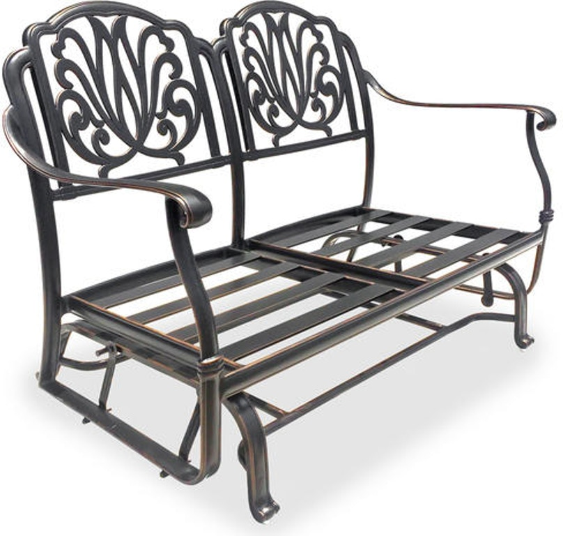 Enjoyable Cadiz Antique Onyx Cast Aluminum Club Loveseat Glider Onthecornerstone Fun Painted Chair Ideas Images Onthecornerstoneorg