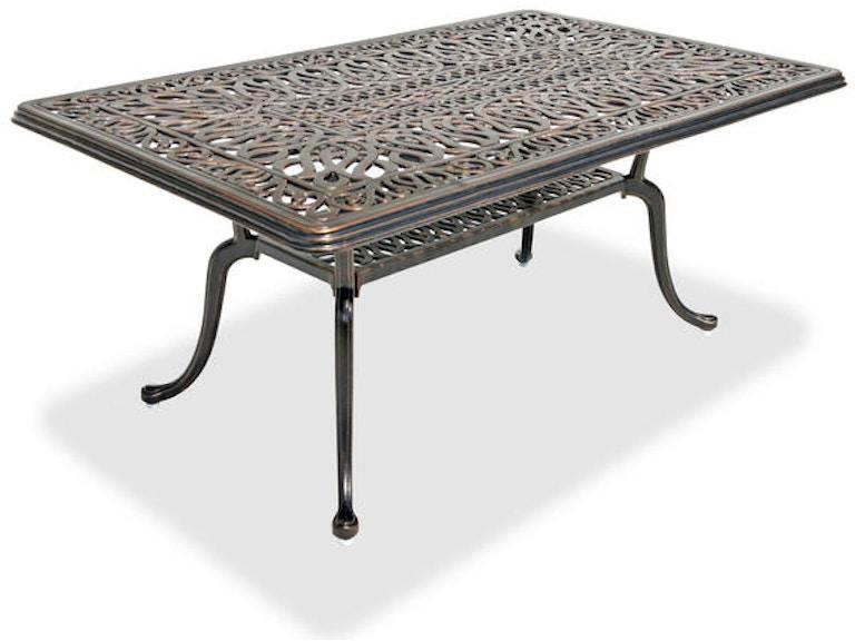 Cadiz 42 X 26 Cast Aluminum Coffee Table 3178837