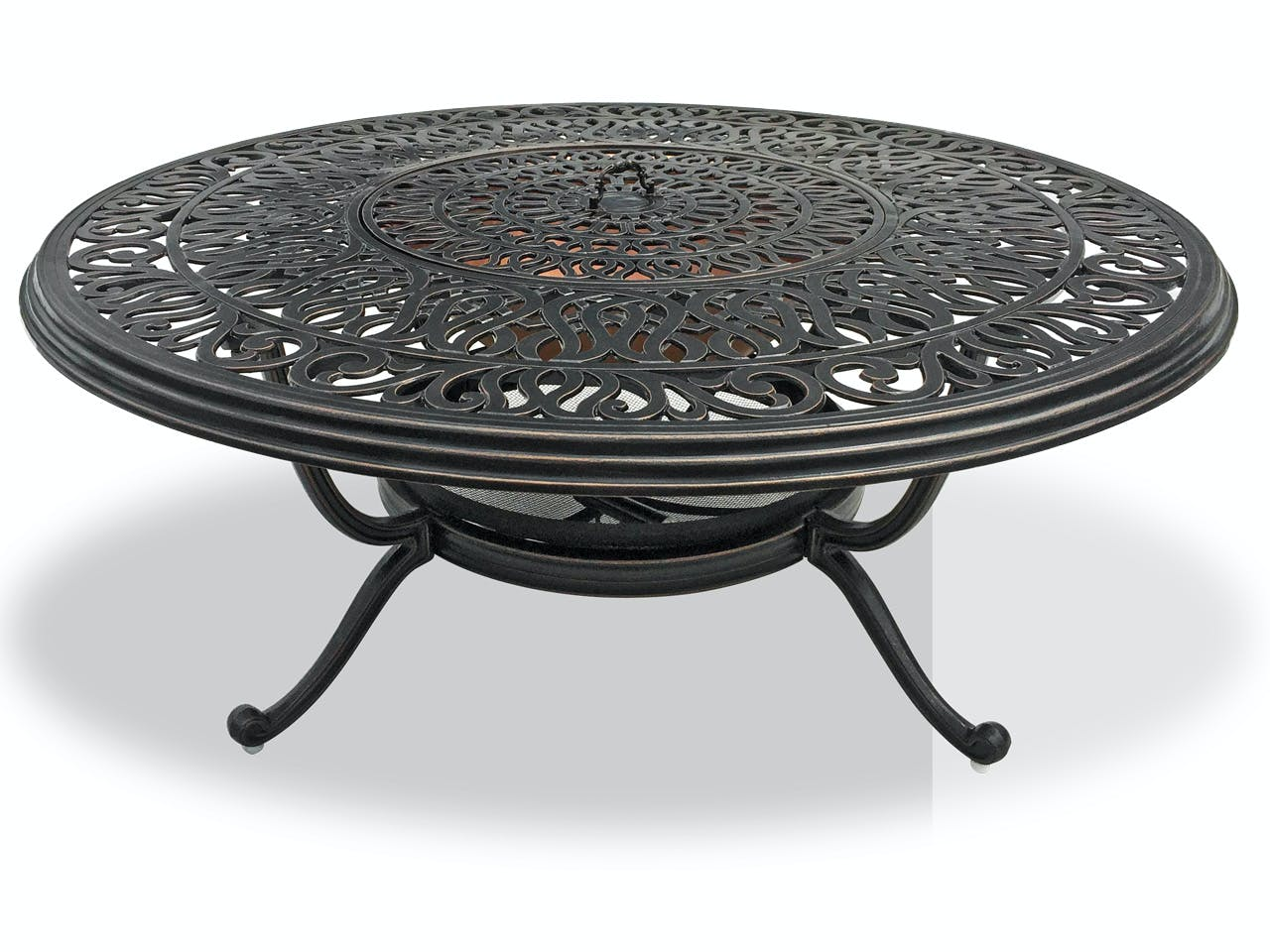 Picture of: Outdoor Patio Cadiz Aged Bronze Cast Aluminum 48 In Fire Pit Coffee Table 3522400 Chair King