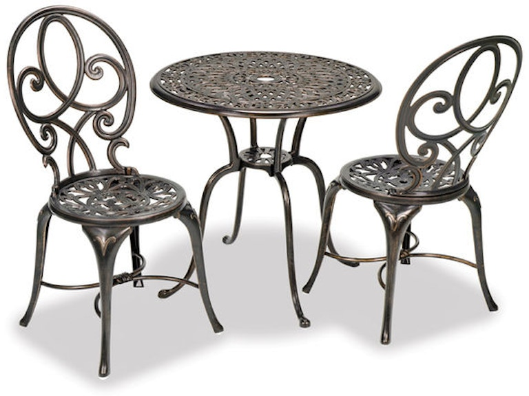 Outdoor Patio San Paolo Cast Aluminum Bistro Set 2876307 Chair