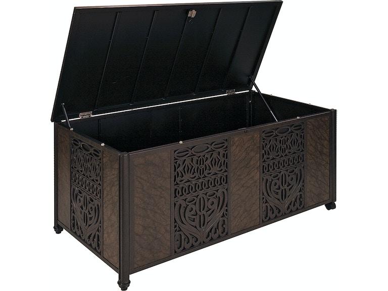 Cast Aluminum Cushion Storage Box