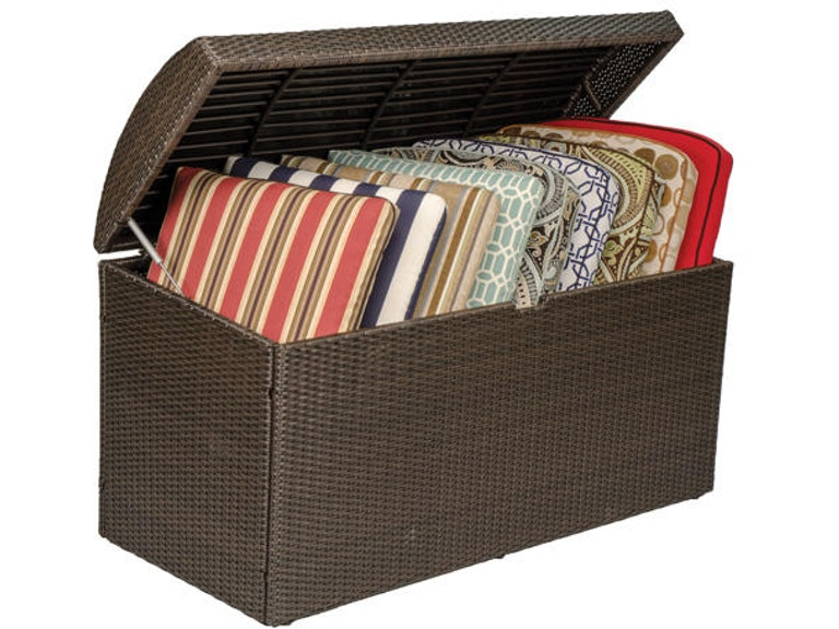 Havana Woven Outdoor Wicker Large Cushion Storage Box 2639780