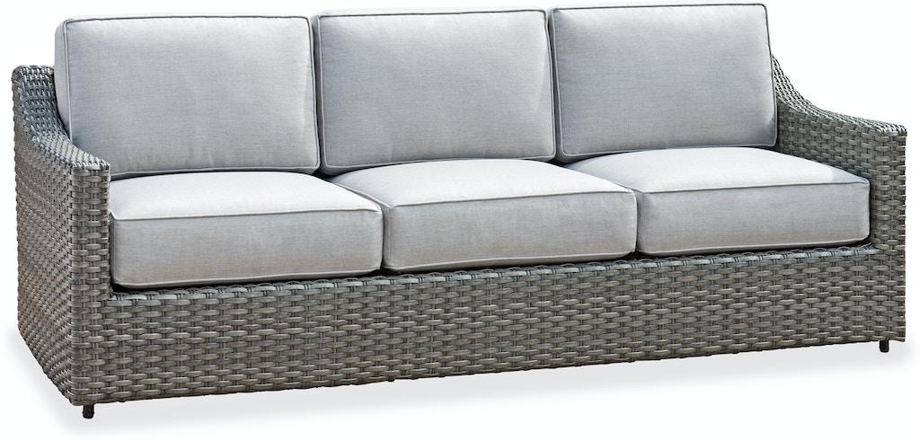 Horizon Aluminum Outdoor Wicker Sofa In Cast Silver