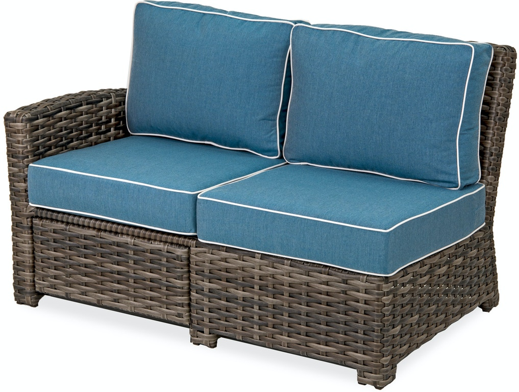 Strange Contempo Cushion Aluminum And Outdoor Wicker Left Arm Facing Reclining Loveseat With Cast Lagoon Sunbrella Cushions Cjindustries Chair Design For Home Cjindustriesco