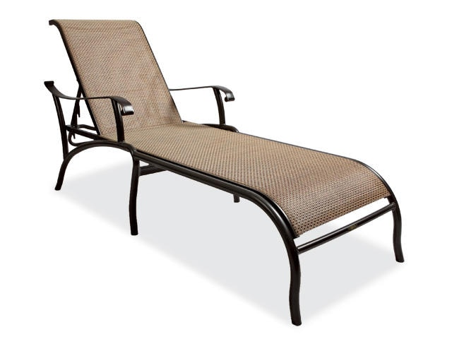 Outdoor Patio Scarsdale Sling Aluminum Chaise Lounge 2076520 Chair