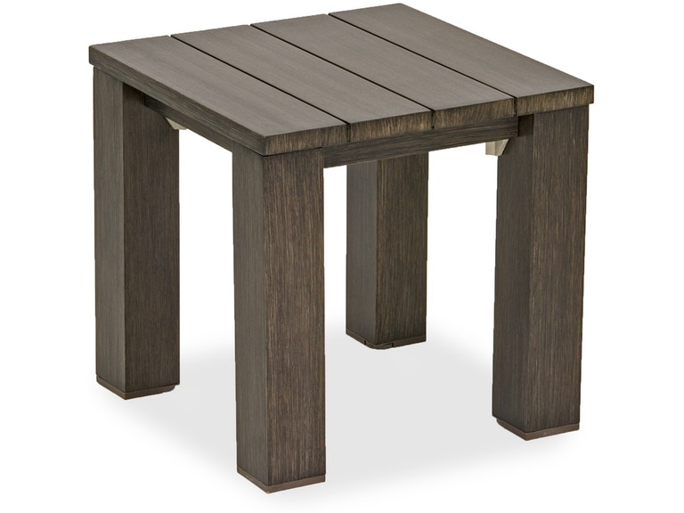 Palisades 22 X Square Aluminum Slat Top End Table 3346427