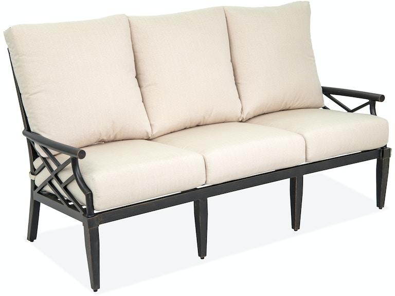 Amazing Essex Brushed Bronze Cast Aluminum Cushion Sofa Home Interior And Landscaping Ponolsignezvosmurscom