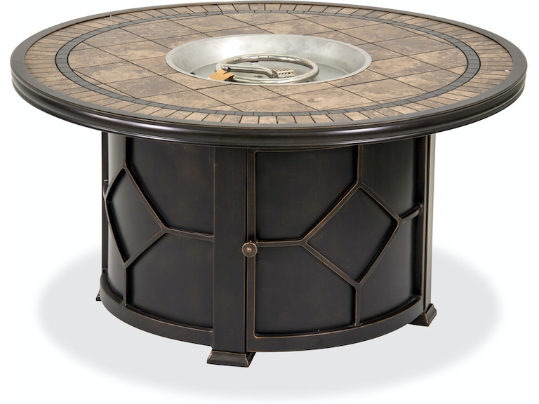 Admirable Black Gold Cast Aluminum 48 In Round Porcelain Tile Top Lp Fire Pit Coffee Table Ibusinesslaw Wood Chair Design Ideas Ibusinesslaworg