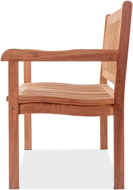 Outdoor Patio Teak Garden Classics Natural Stain Solid Teak High Back Park Bench 3702614 Chair